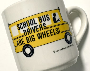 Vintage School Bus Driver Yellow School Bus Coffee Mug Coffee Cup Gift for Bus Driver