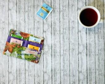 Tea wallet - Tea keeper - Travel tea caddy - Tea caddy - Teabag case- Tea envelope - Gift for tea lover - Gift for coworker - Gift under 15