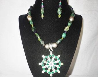 A Stunning 110 Carat Teardrop Emeralds, Peridot Amethyst Necklace Set*****.