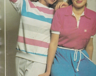 1980's Sewing Pattern - Knitwit 1400 Designer Ladies Knit Tops Size 6 - 22 Factory folded and complete