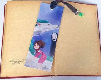Handmade spirited away - illustrated, laminated, bookmark