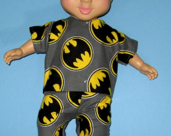 """Wonder Crew, Doll Clothes, Pajama Set, 14""""  or 15"""" Doll Clothes, Boy Doll Clothes, Will, James, Erik, Marco"""