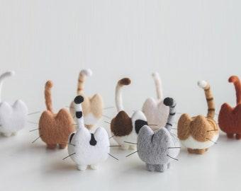 Needle Felting Wool Roving Cat - 1 PC of Handmade Kitten ( Made to Order )
