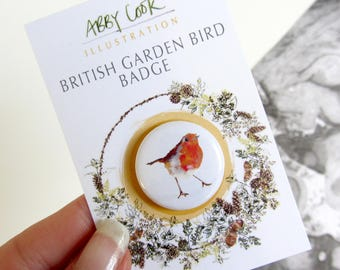 British Garden Bird Badge - Robin