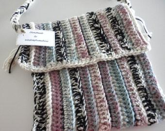 Messenger Bag, Crossbody Hobo Bag,  Shoulder Bag, Shoulder Purse, Messenger Purse, Hipster Purse Crochet Handmade
