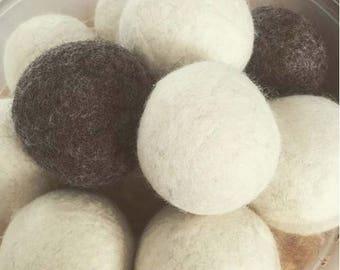 Wool Dryer Balls - in a muslin storage bag
