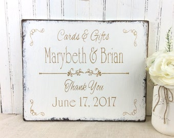 personalized wedding sign, custom wedding, bridal reception gifts & cards table, wedding planer, event planner,  bridal shower sign, rustic