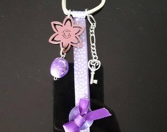 Purple key holder