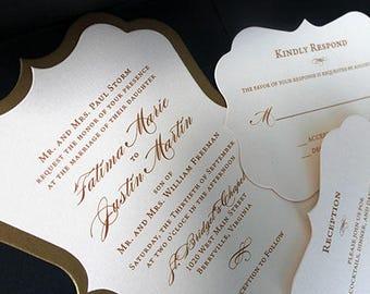 Bracket Invitation, Wedding Invitation, Bridal Shower Invitation, Gold Wedding Invitation, 50th Birthday Invitation, Quinceanera Invite