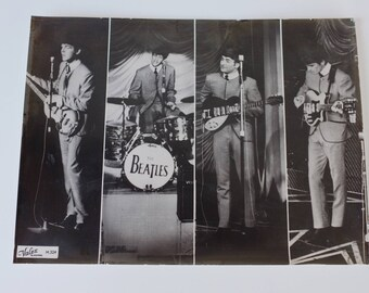 Beatles Vintage Large Promo Photo Liverpool Merseybeat 1960's John Lennon Paul McCartney George Harrison Ringo Starr Fab Four Mop Tops