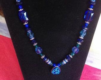 Elegant Blue Necklace