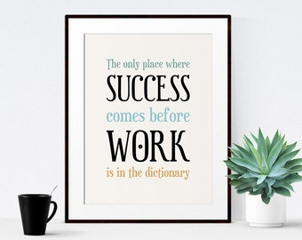Office Decor, Printable Quote, Office Art, Inspirational Quote, Typography Poster - Instant Download