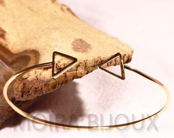 1bracelet Bangle pattern adjustable golden triangle 16cm