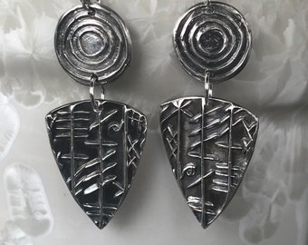 Tribal Shield earrings