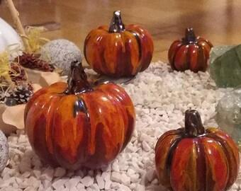 Ceramic pumpkin decorative vegetable gourd from clay garbuz