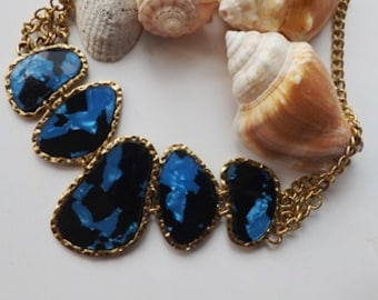 Blue Stunning Modern Necklace