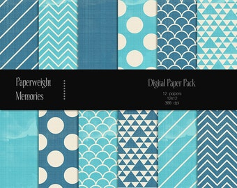 Tropical Beach - digital patterned paper - Instant Download -  digital scrapbooking - patterned paper, textured paper - Commercial use