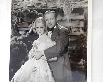 Vintage Movie Star Photo Bing Crosby Joan Bennett Hollywood Photo Paramount Productions 1935 Publicity Photo Promo Photo
