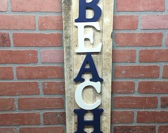 Beach, Beach Sign, Beach Wall Decor, Beach House Wall Decor, Beach House Decor, Beach House Wall Art, Nautical Decor, Nautical Wall Decor