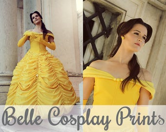 Belle Beauty and the Beast Cosplay Prints