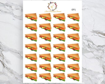 Sandwich Stickers, Food Stickers, American Food Stickers, for use with  Erin Condren, Happy Planner