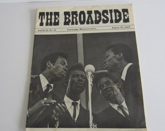 The Broadside Folk Music and Coffeehouse Magazine August 18, 1965
