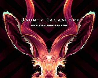 Jaunty Jackalope - Signed Giclée Print