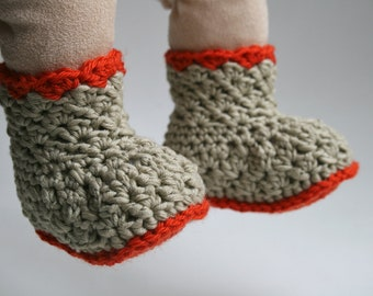 Crochet Pattern Baby Boots pattern, INSTANT DOWNLOAD crochet baby shoes grandpa boots (01) email pdf pattern