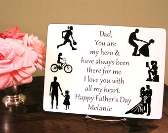 Personalized Fathers Gift For Dad From Daughter Birthday Papa