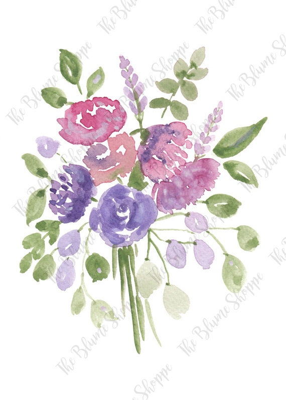 Purple Vintage Flowers