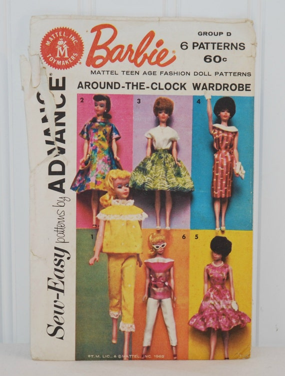 Sew Easy Patterns by Advance (c. 1962) Barbie Mattel Teen Age ...