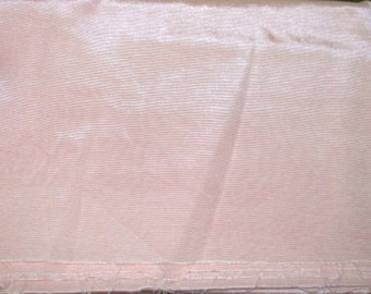 """LIGHT PEACH Faille Poly Blend Fabric 49"""" wide x 2 7/8 yards"""