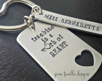 Teacher Gift, Teacher Christmas Gift, Teacher Keychain, Teacher Appreciation Gift, Personalized Keychain, Personalized Keyring