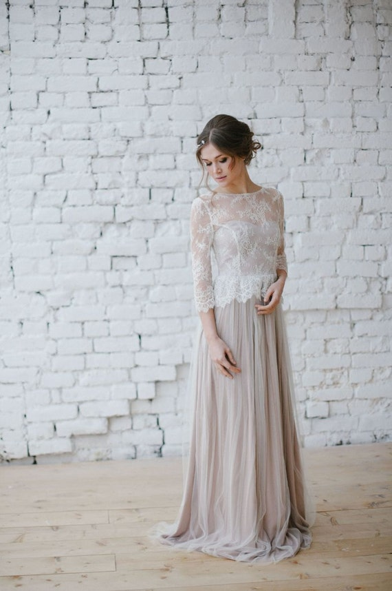 Wedding dress Boho wedding dress Romantic Wedding Dress Long
