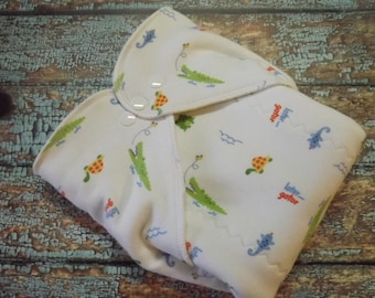 Organic Cotton Winged Prefold Cloth Diaper Later Gator Sized