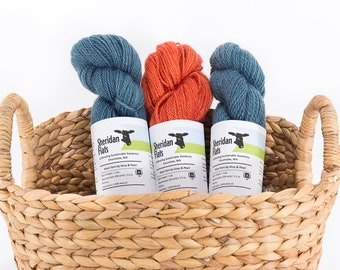 Wool Yarn by Sissy and Pearl - Sport Weight 2 Ply Romney - Hand Dyed