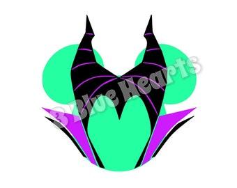 Maleficent Mickey Head, Disney SVG dxf png Studio, Maleficent SVG dxf png Studio, Maleficent, Sleeping Beauty, disney villain