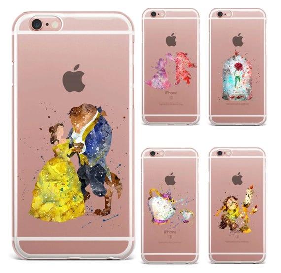 coque iphone 8 silicone la belle et la bete