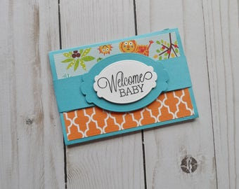 Baby Boy Gift Card Holder -- Baby Gift Card Holder -- Gift Card Holder for Baby Boy