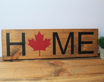 HOME sign. Canadian Home Sign. Province Home Sign. State Home Sign. Wooden Sign. Housewarming Gift. Christmas Gift.