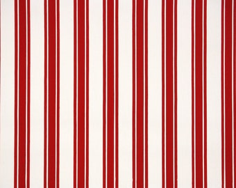 1940s Vintage Wallpaper by the Yard - Red and White Stripe
