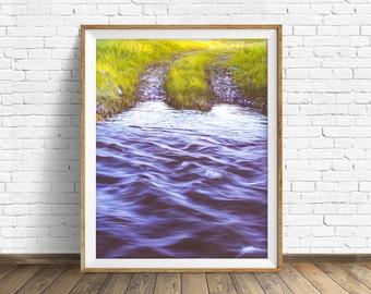 "landscape, landscape print, instant download art, printable art, photography, color, instant download, art -""Crossing"""