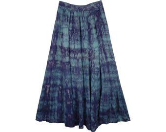 Fiord Marble Tie Dye Blue Skirt