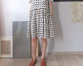 confetti print monochromatic summer babydoll dress