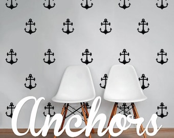 Anchors Wall Decal Pack, Vinyl Wall Sticker Decal Art Pattern WAL-2183