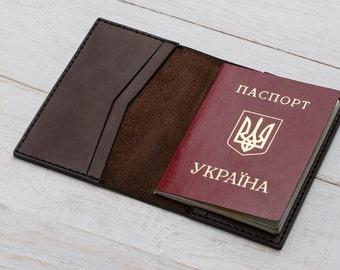 Passport Cover, Passport Leather Cover, Passport Holder, Brown Leather Cover, Passport Case, Travel Wallet, Leather Case, Passport Wallet