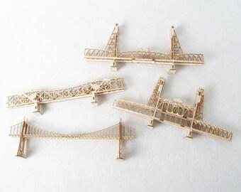 Your Choice of Four Model Kits of Portland Oregon Bridges - laser cut models kits, DIY