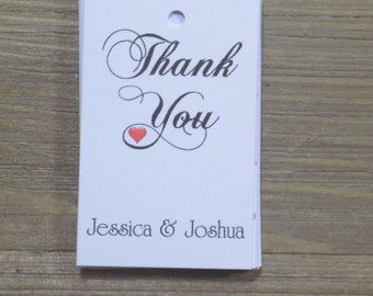 Thank-You-Favor-Tags-Bride-Grooms-Names-Wedding-Favors - Favor Tags - Thank you Tags - Personalized Favors - Bridal Tags