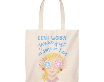 Luna Lovegood Harry Potter Book Inspired Funny Quote Shoulder Tote Bag