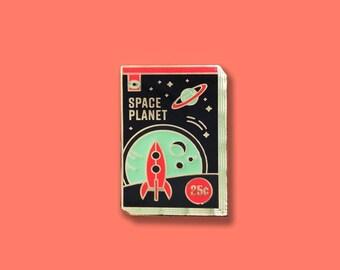 Space Planet Enamel Pin